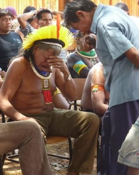 Chief Raoni Metuktire of Brazil's Kayapó