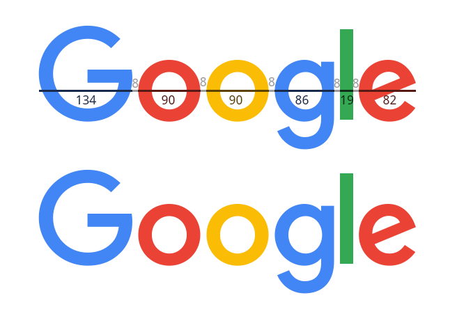 Google Logo with 8px Tracking