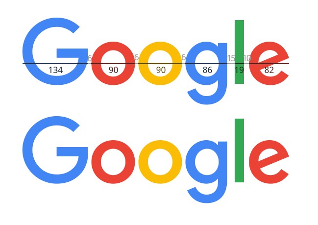 The New Google Logo with My Kerning Choices