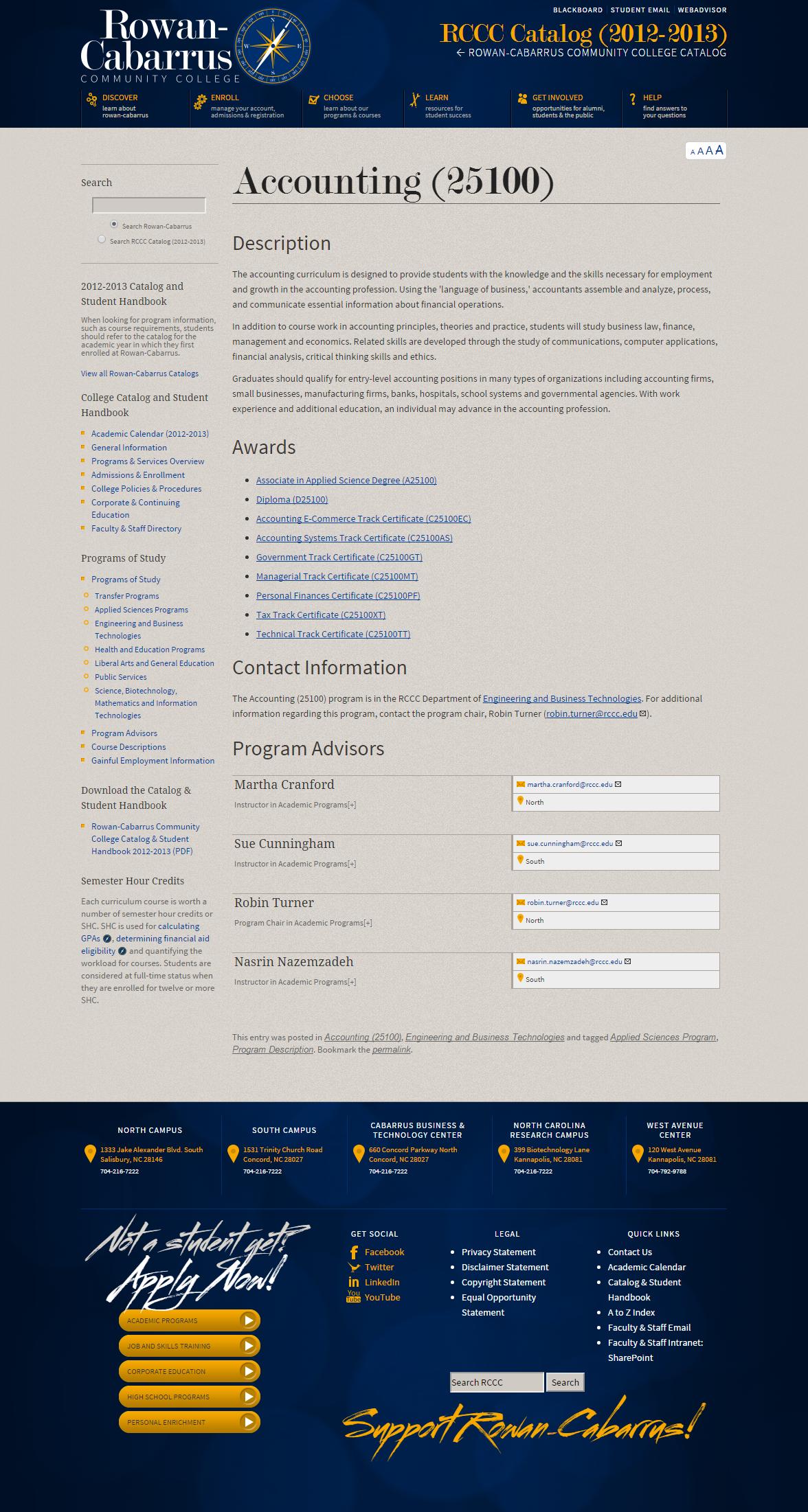 Program Description Page