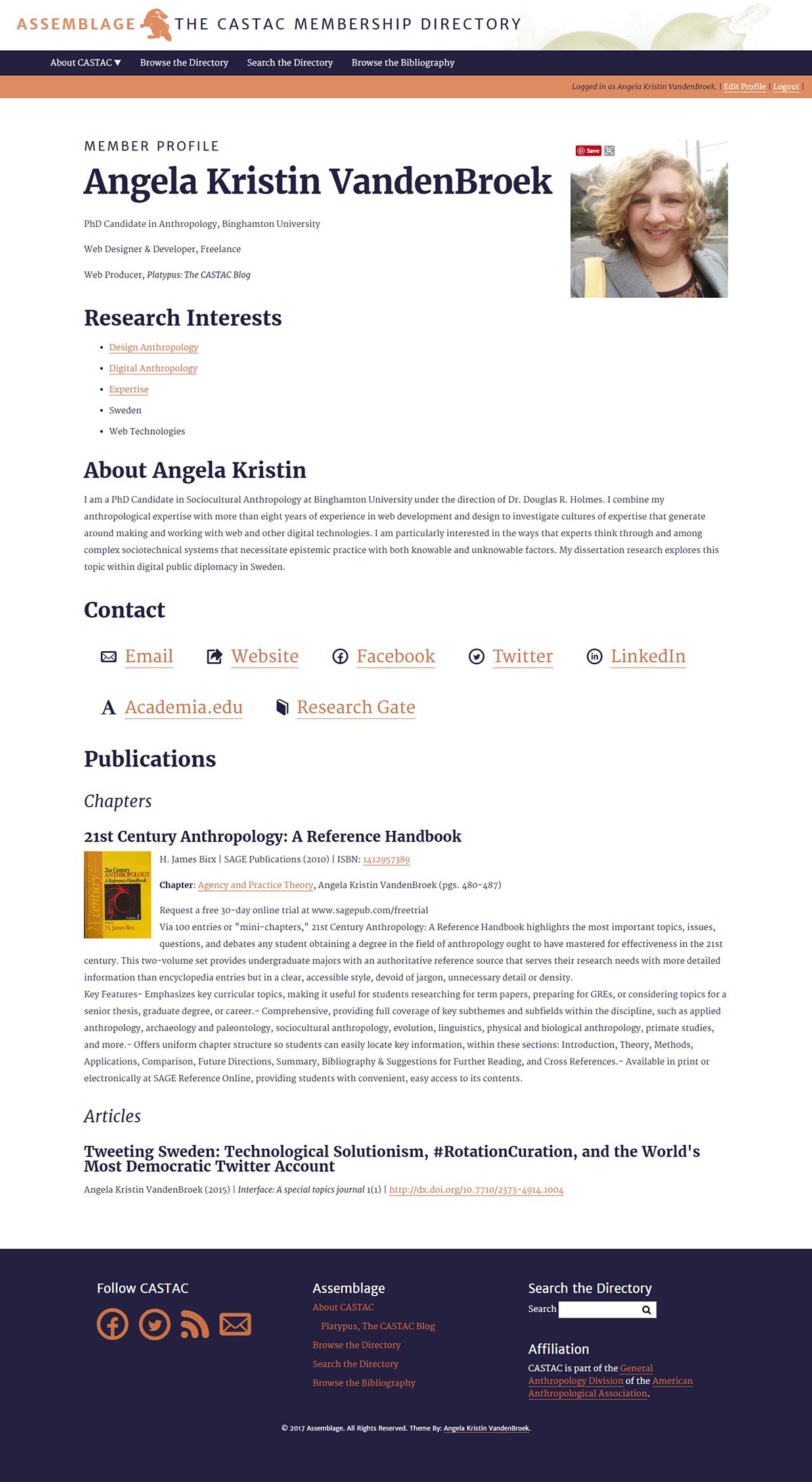 Individual Member Profile